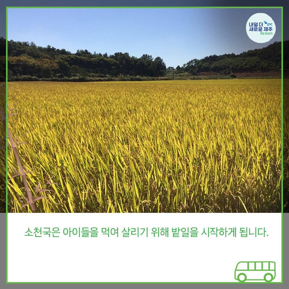 소천국은 아이들을 먹여살리기 위해 밭일을 시작하게 됩니다.